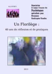 Couverture du livre Le Florilège avec une photo de flou tout en couleurs bleue, noire, verte et violette.